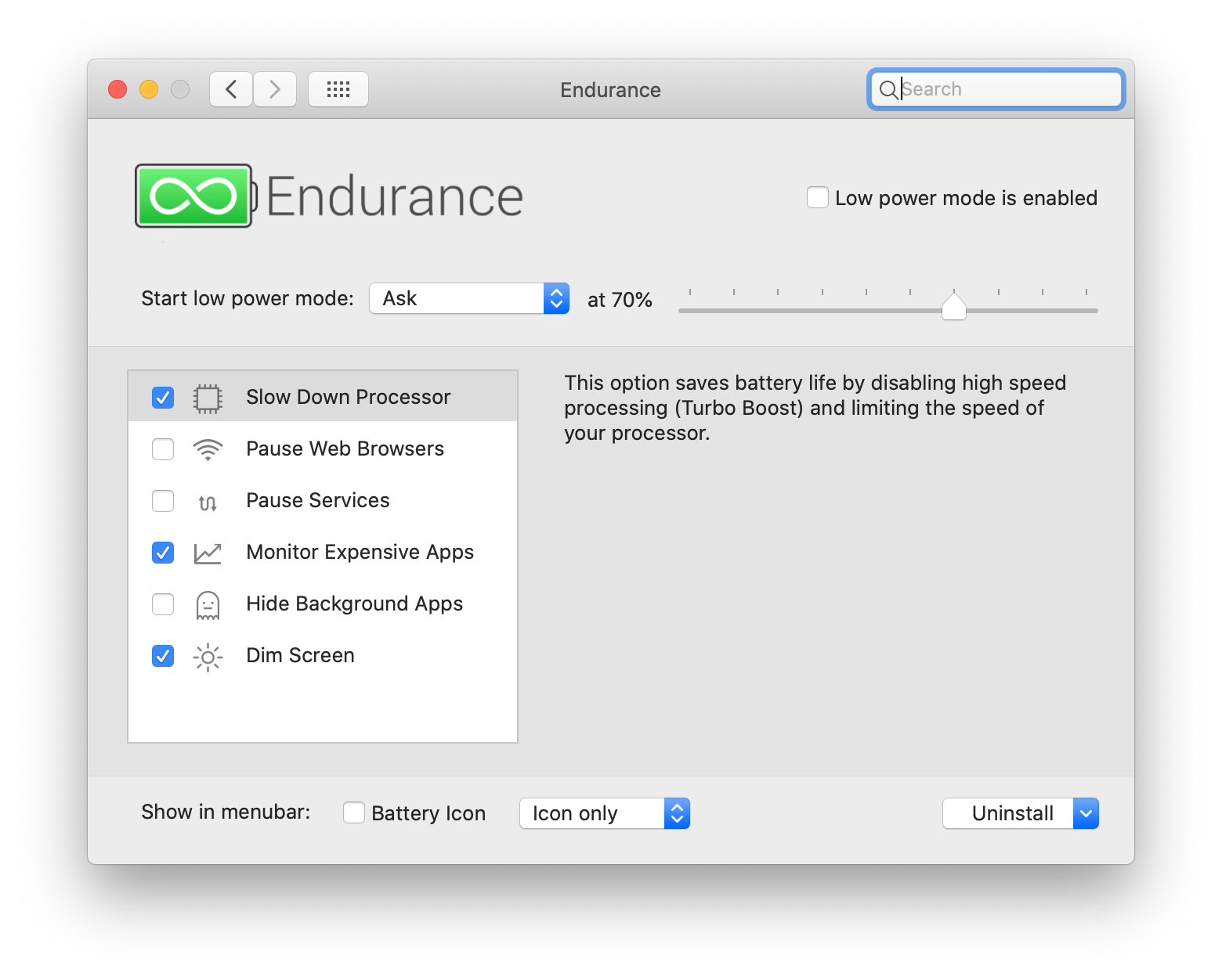 Endurance Mac battery extender