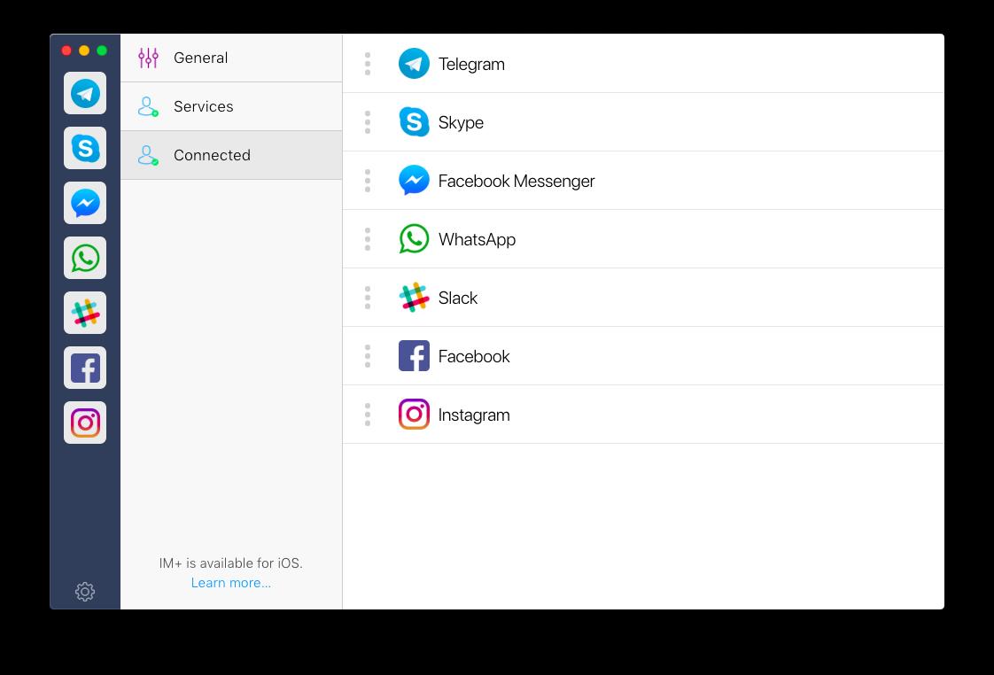 IM+ messaging aggregator
