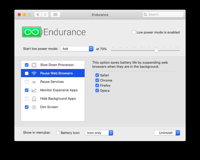 Endurance battery MacBook extend app