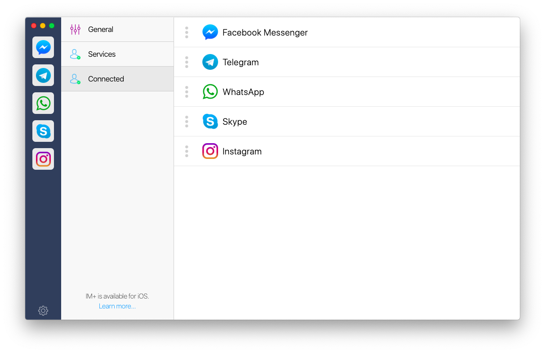 IM+ app messaging Mac social