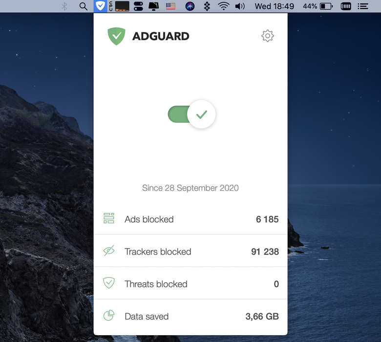 Block trackers with AdGuard