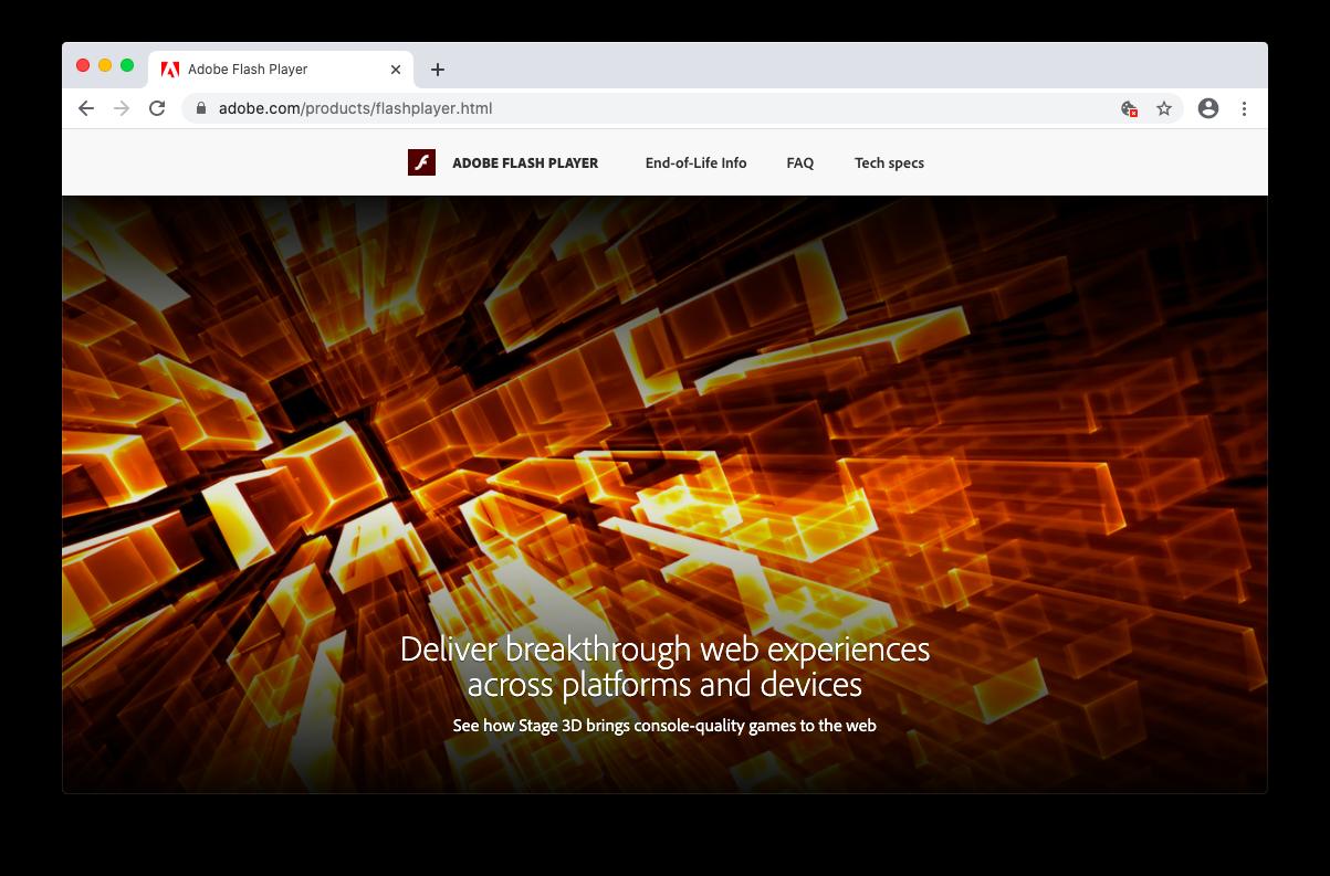 Adobe Flash Player Chrome