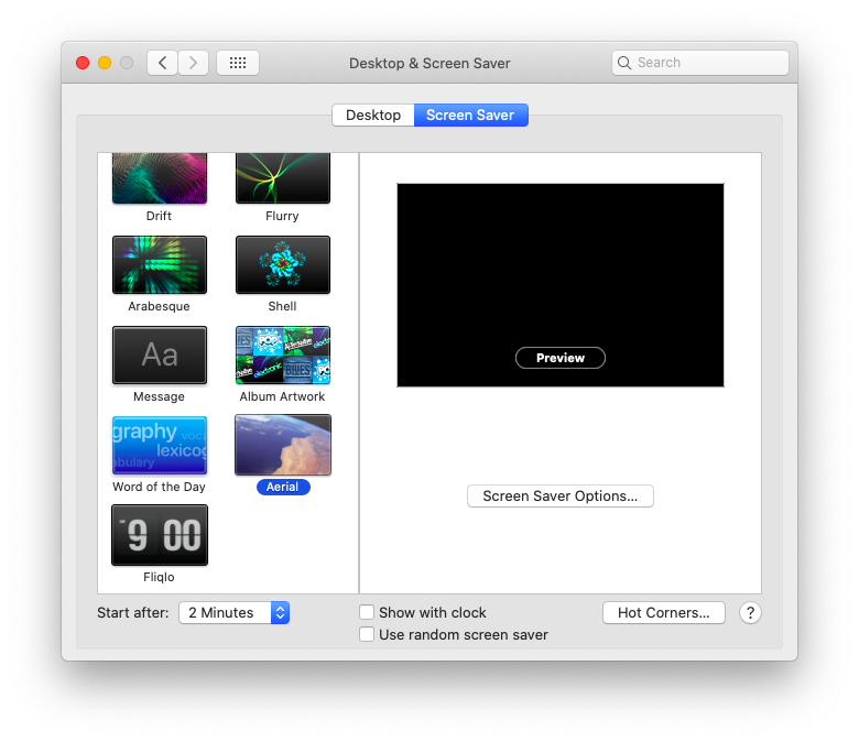 Apple TV screensaver for Mac