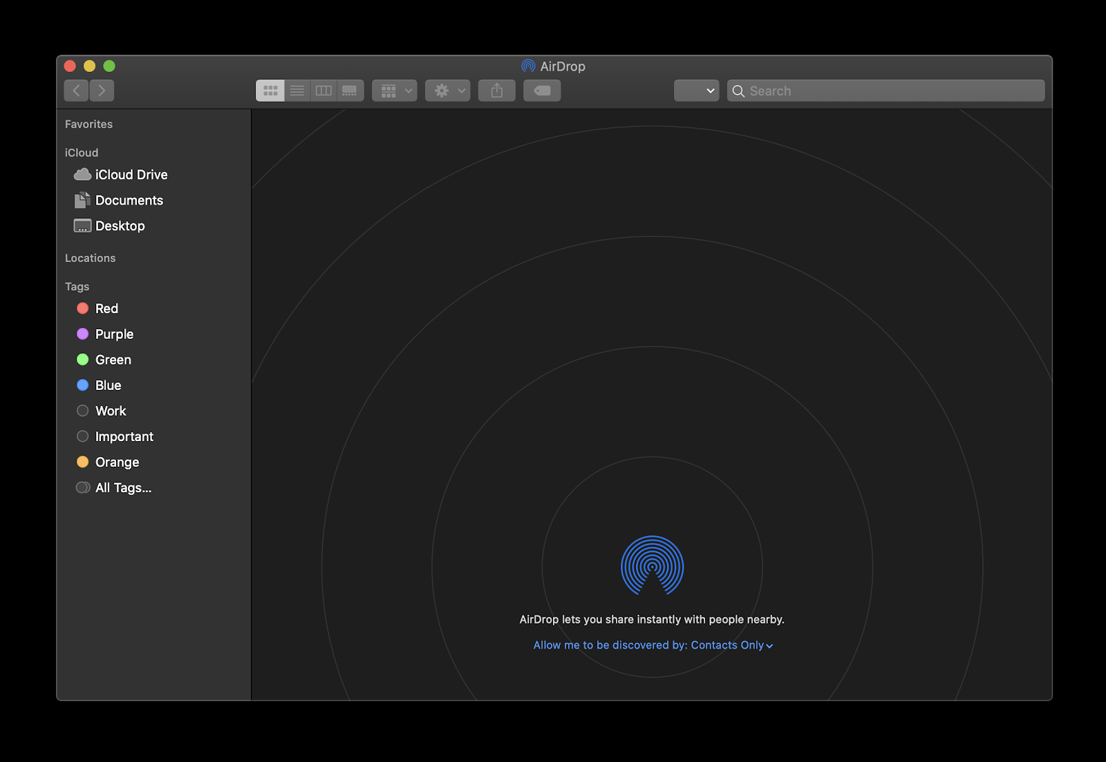 Sync files with AirDrop