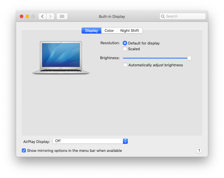Settings to mirroring Mac to Apple TV