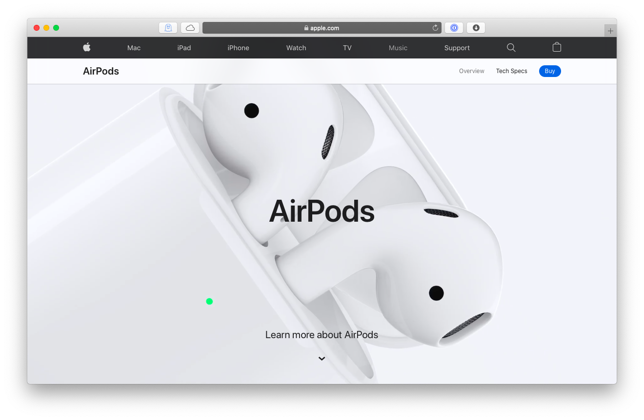 AirPods 2 headphones Mac