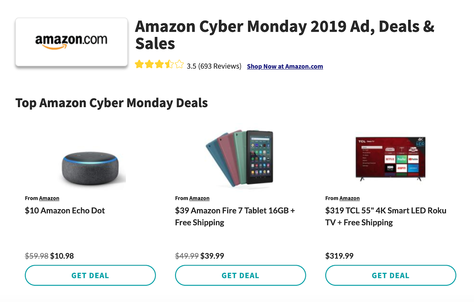 Amazon Cyber Monday deals 2019