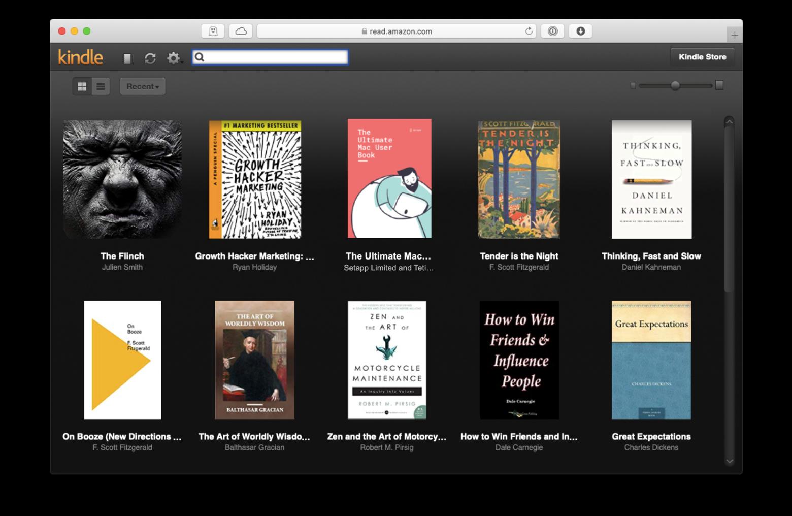 Amazon Kindle cloud reader Mac