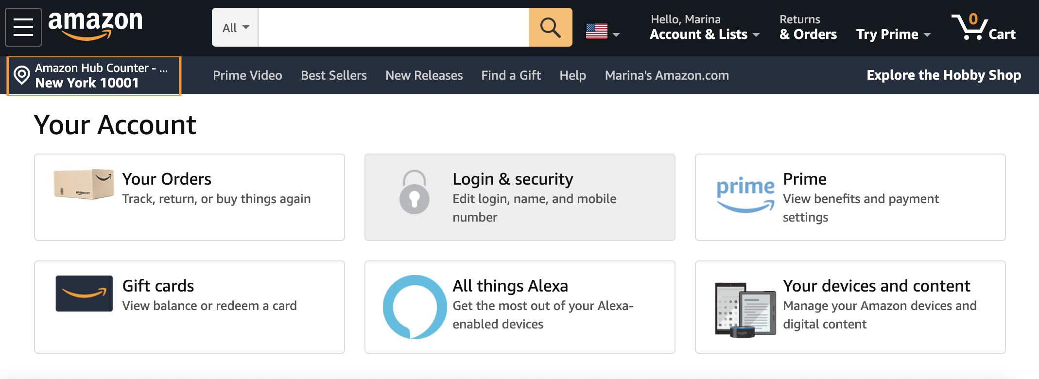 Amazon.com account