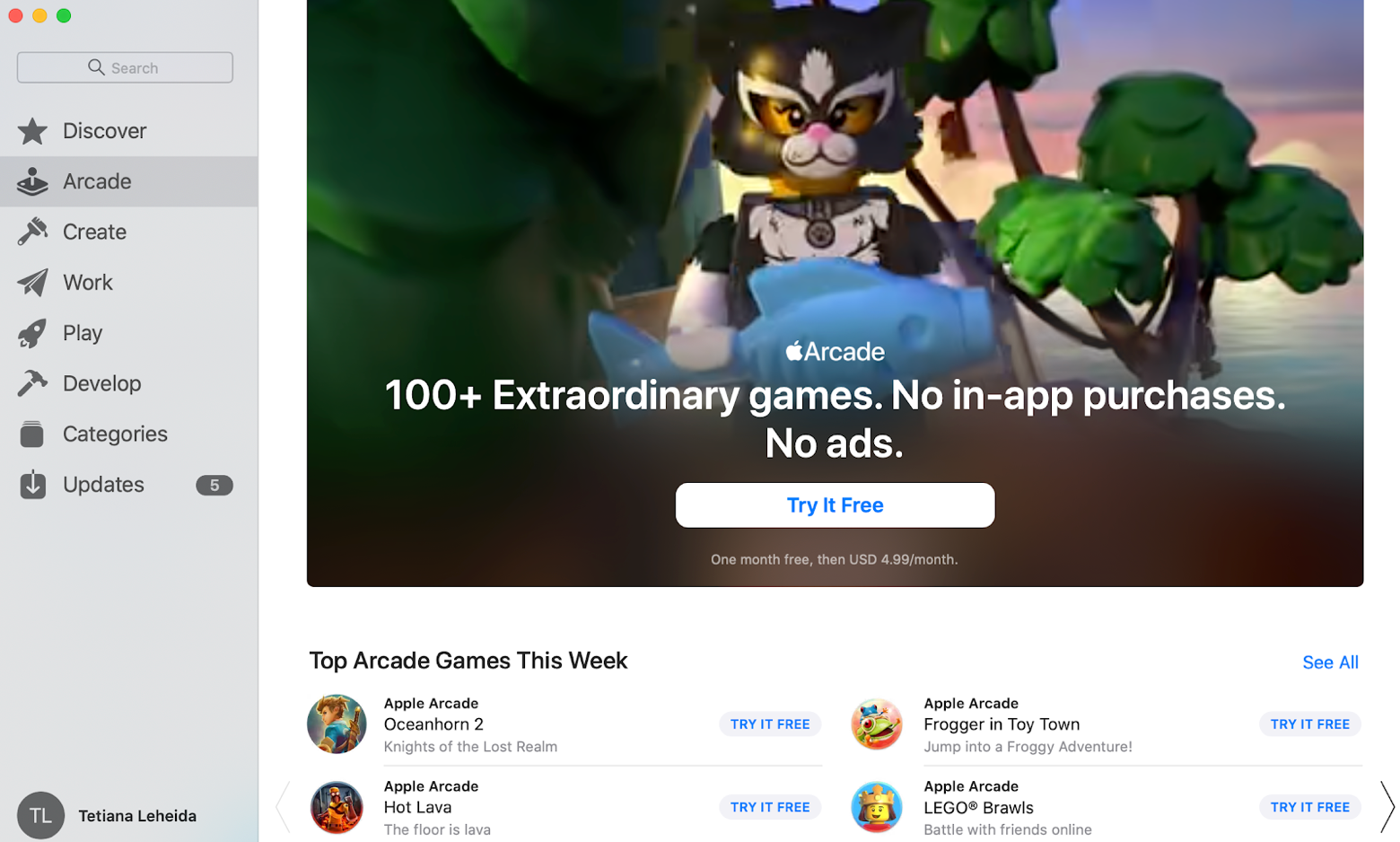 Apple's games subscription as a gift
