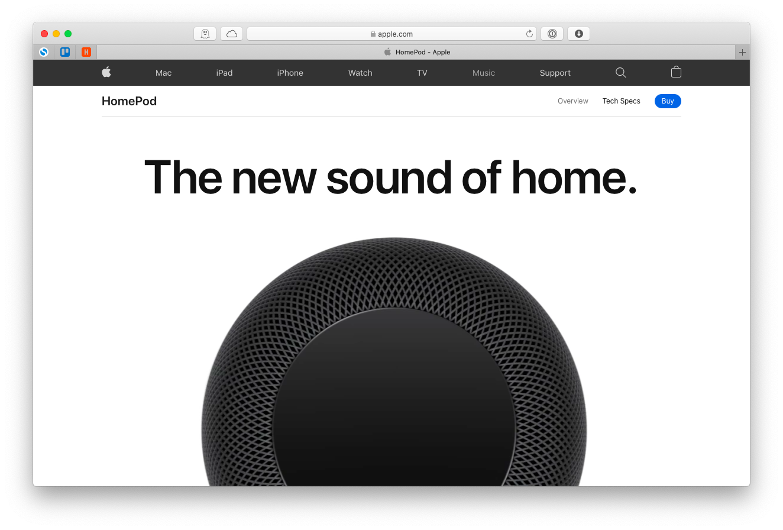 Apple HomePod speaker bluetooth Mac