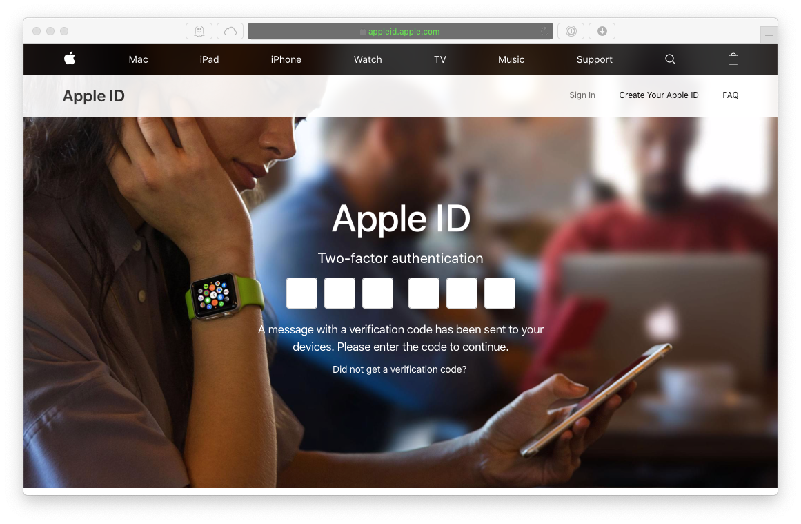 apple ID 2fa login