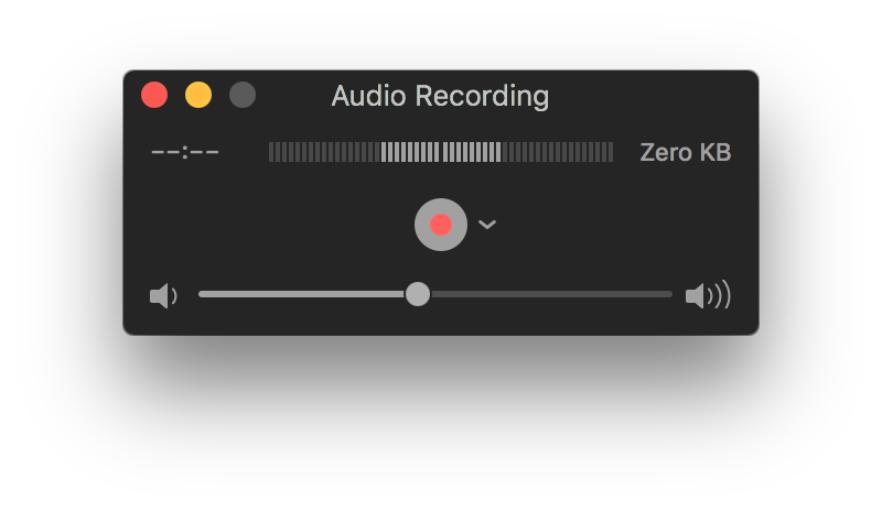 record audio on mac with mic