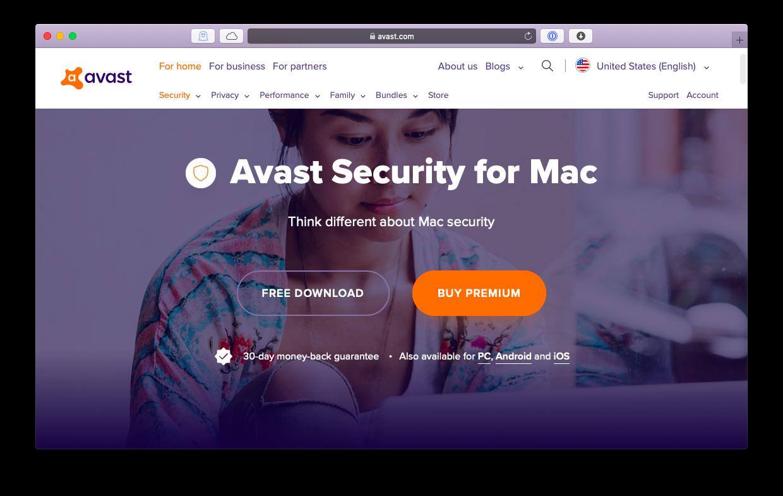 Avast free antivuris Mac protection