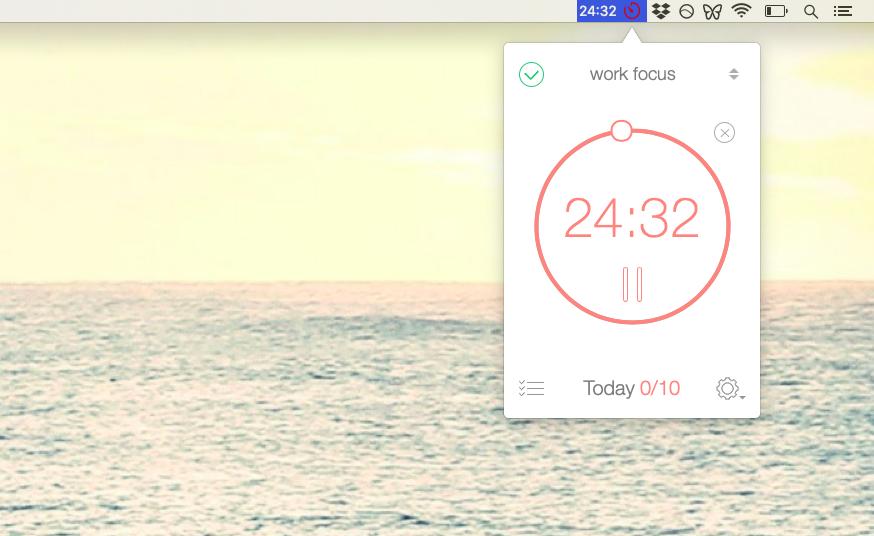 Be Focused timer app Mac tasks