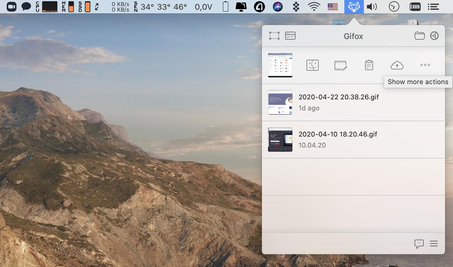 Bildschirm als GIF aufnehmen