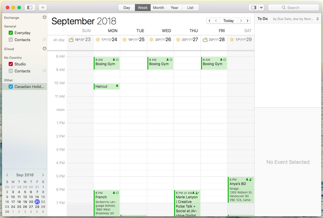 busycal simple calendar