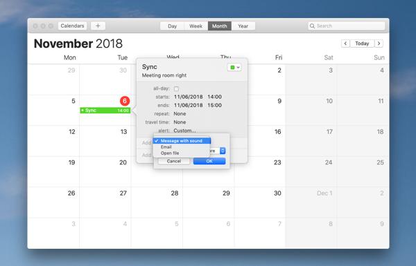 Set up alarms in Calendar app