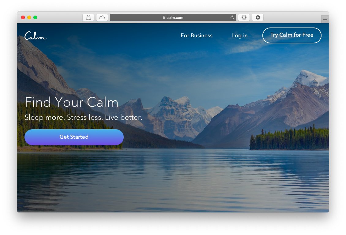 Calm meditation Apple TV Mac