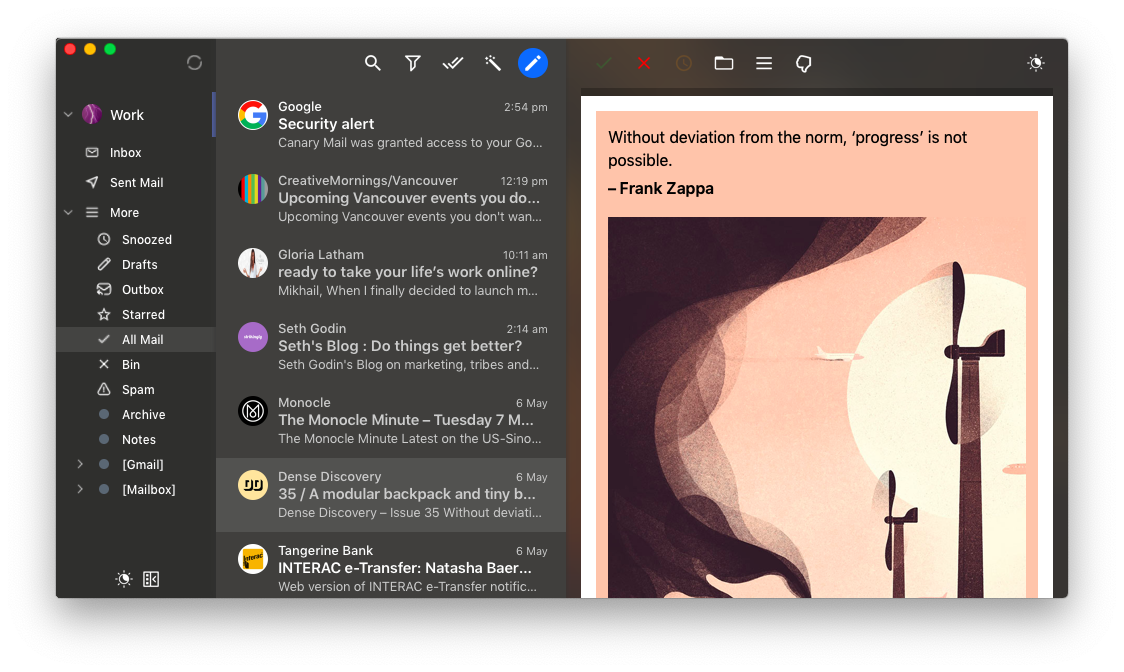 Canary Mail app mac