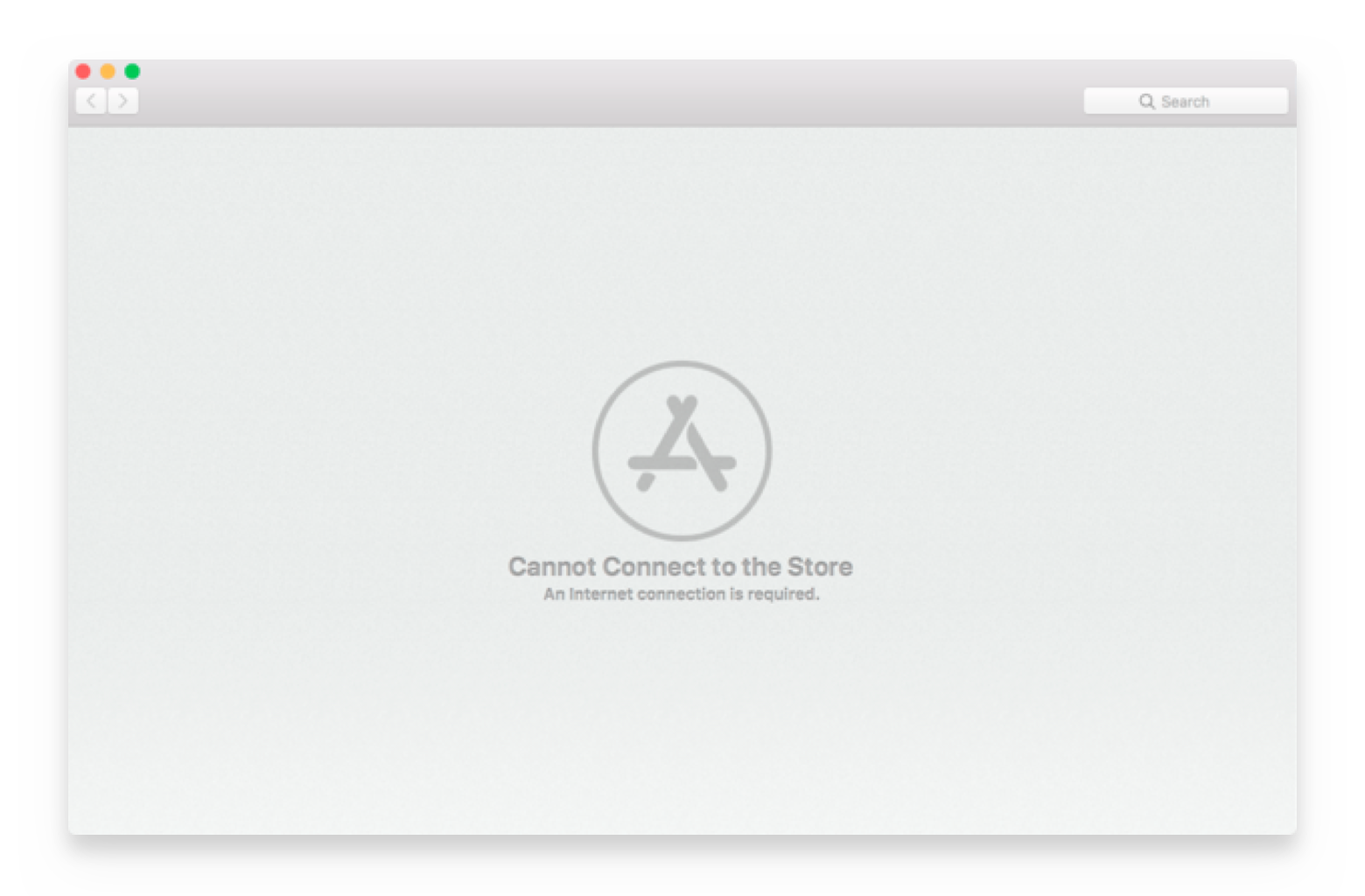 cannot connect to Mac App Store