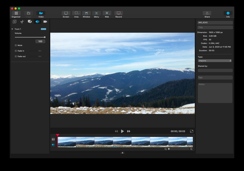 Capto screen recording app Mac
