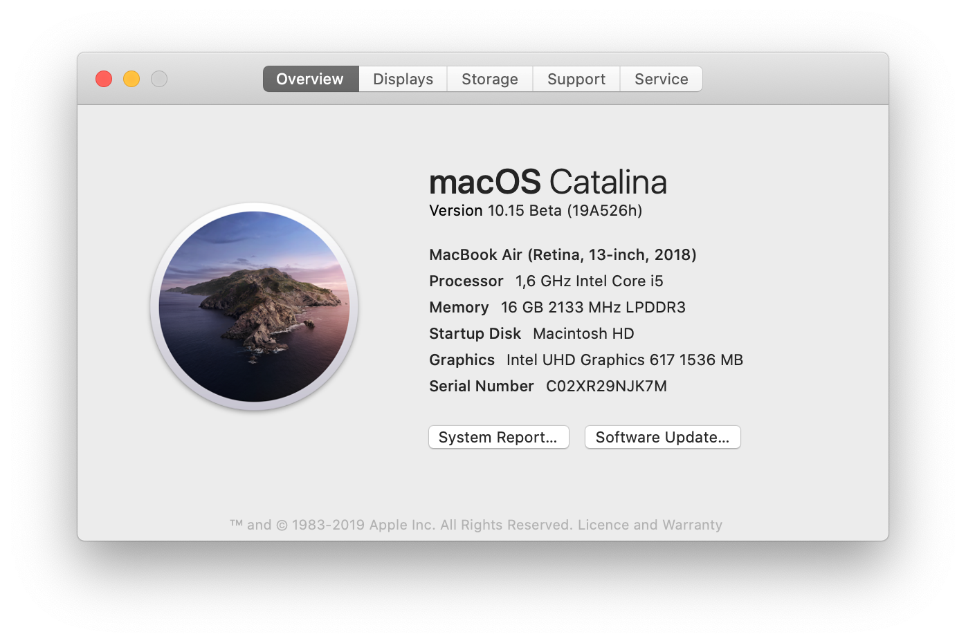 macOS Catalina 10.15 Beta