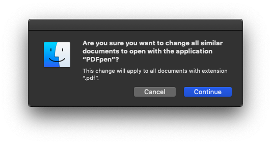 change default app on mac