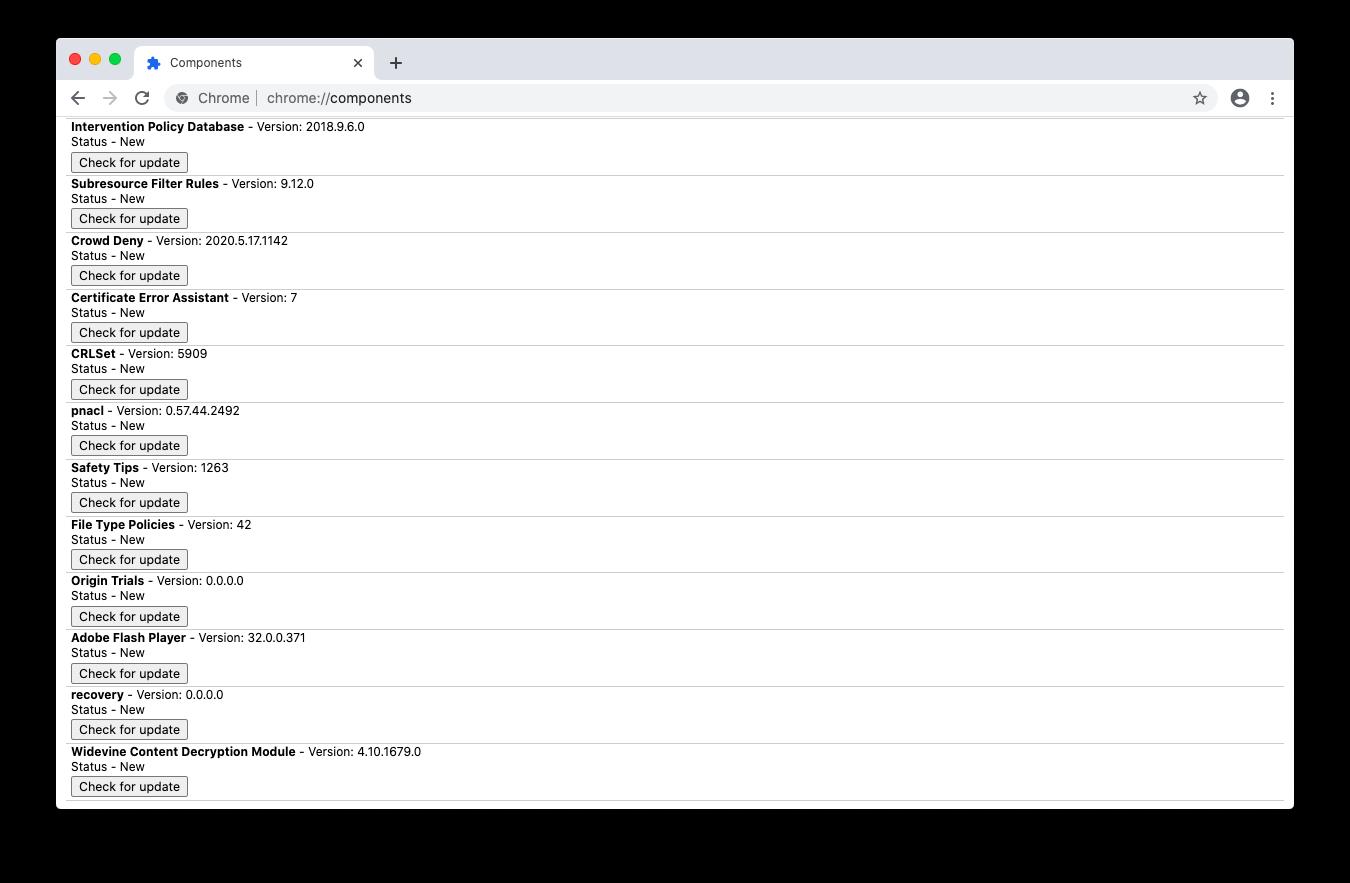 check update Flash Chrome Mac