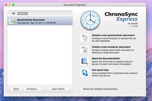 Chronosync Express app