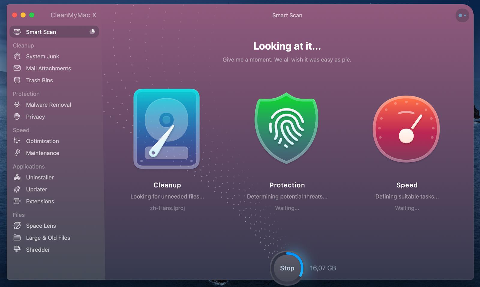CleanMyMac X app