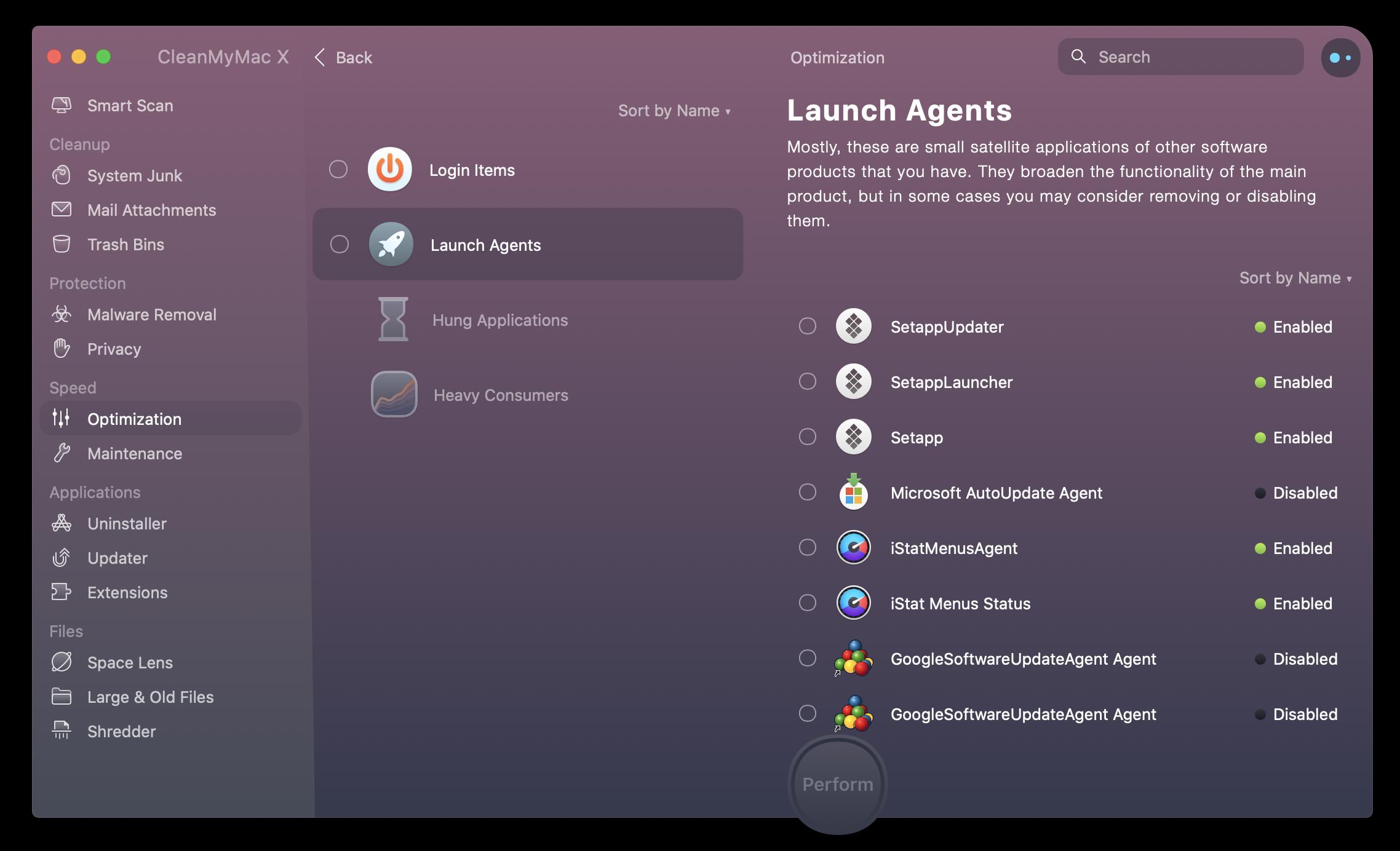clean my mac startup programs
