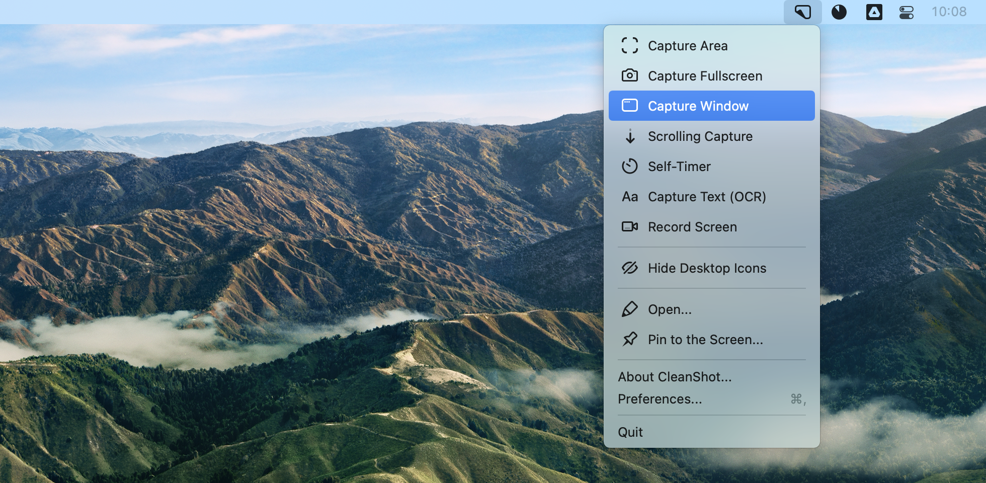 CleanShot X screenshot Mac