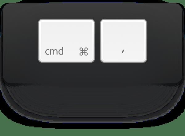 cmd-comma