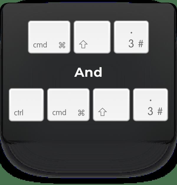 cmd-shift-3 and ctrl-cmd-shift-3