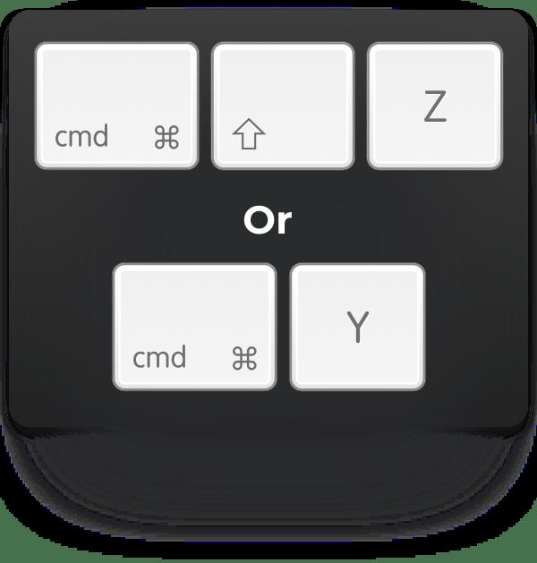 cmd-shift-z or cmd-y