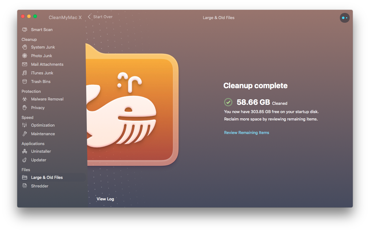 Mac's cleanup complete