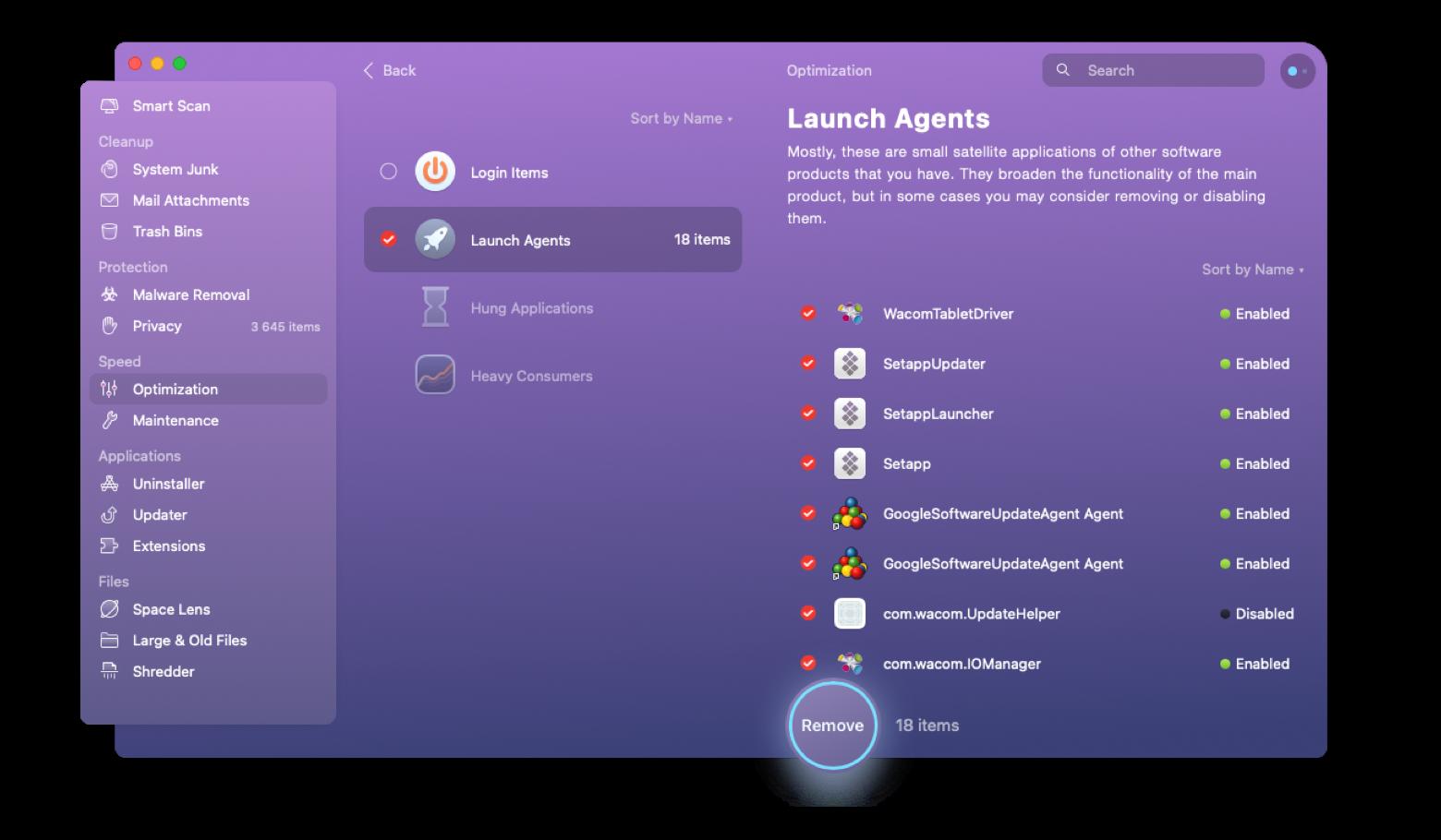 Launch agents