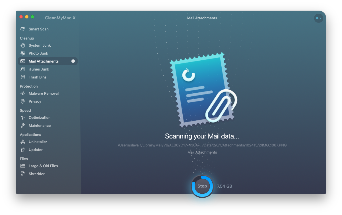 Clean up junk data with CleanMyMac X