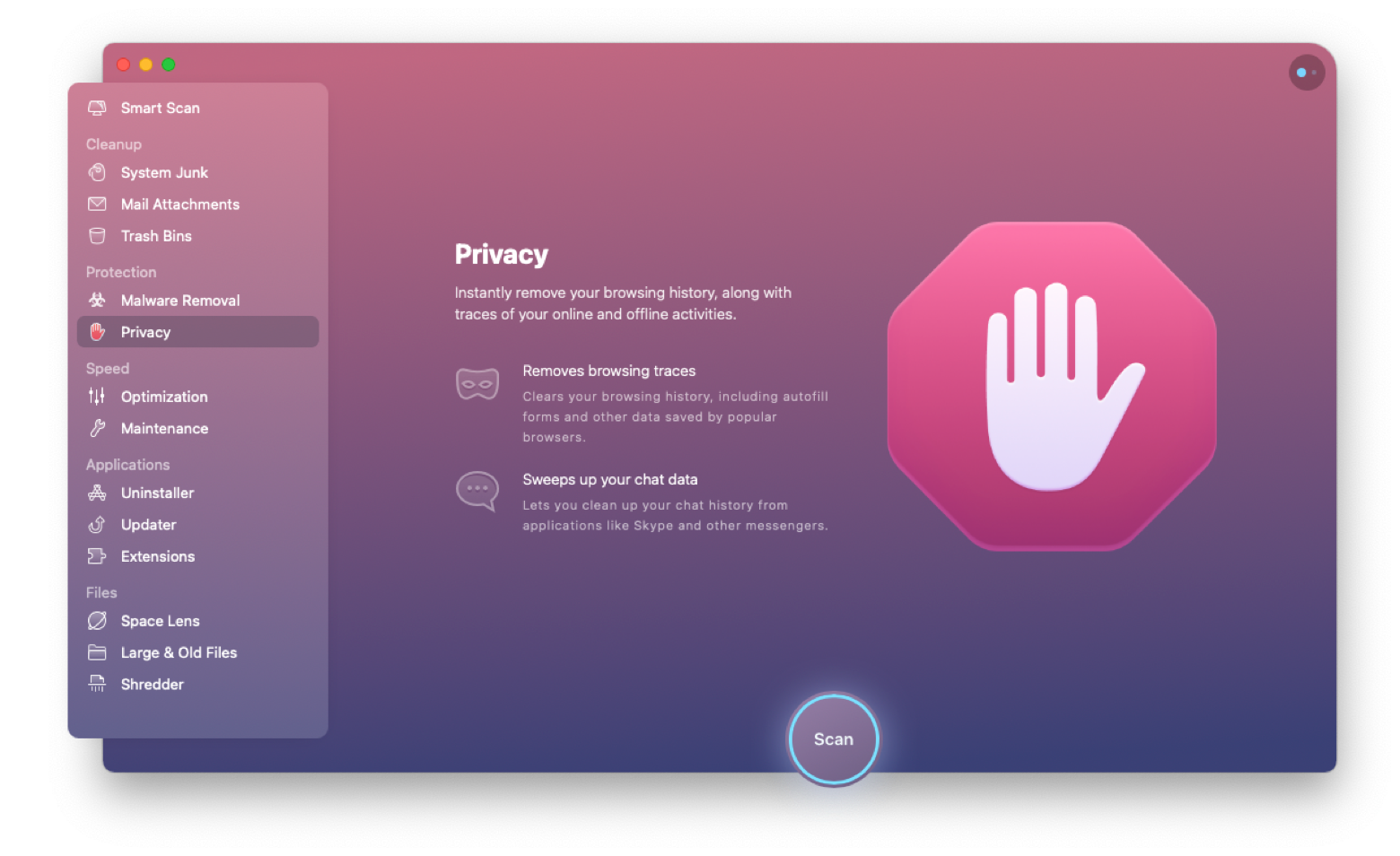 CleanMyMac X Privacy Scan