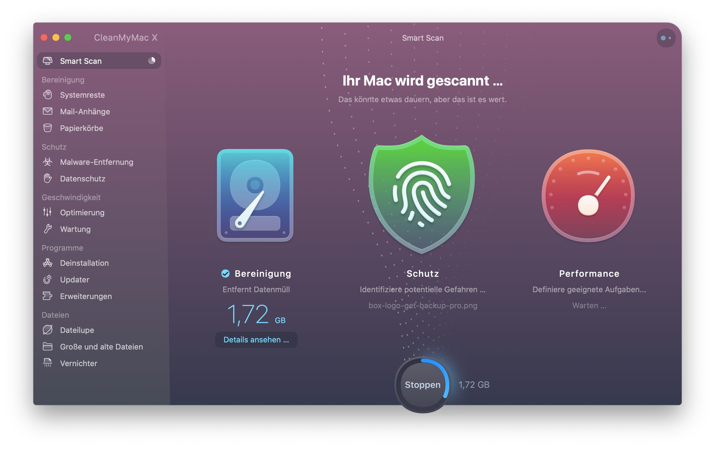 Smart Scan von CleanMyMac X