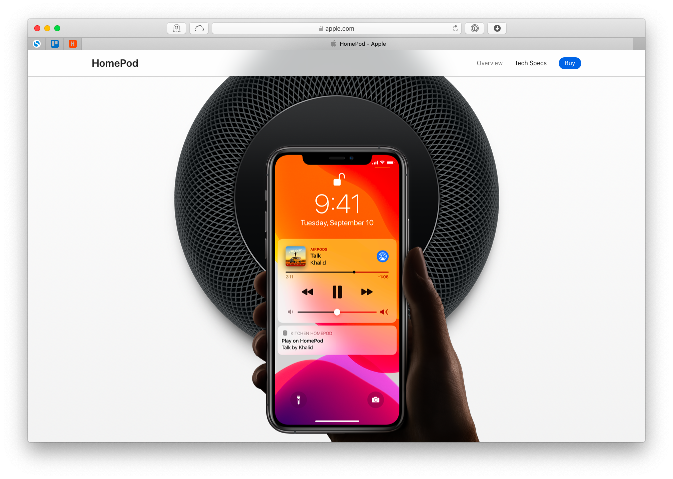 connect AirPlay HomePod Bluetooth iPhone