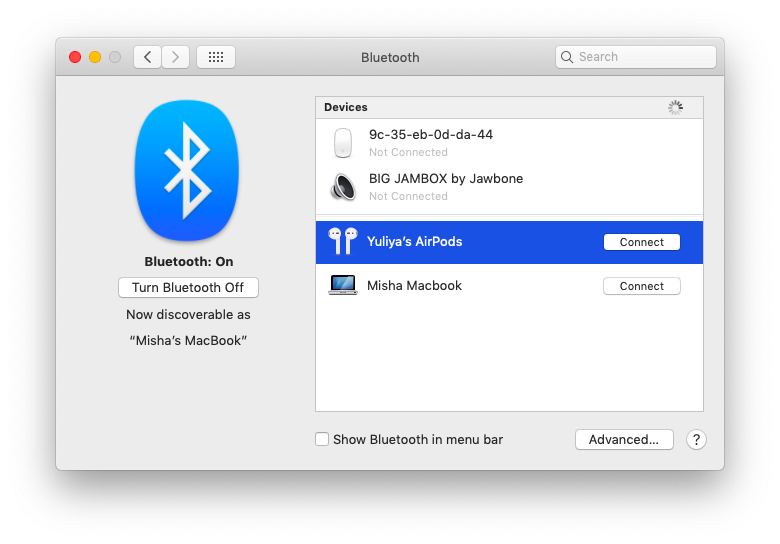 How to connect bluetooth headphones to Mac?