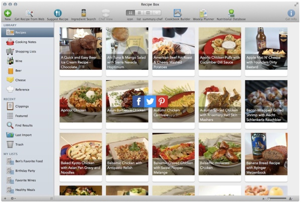 Cook together with MacGourmet Deluxe recipe organizer