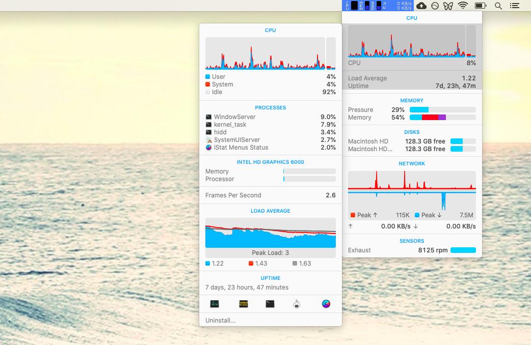 CPU iStat Menus RAM GPU Mac stats