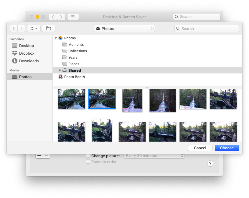 custom photos background on Mac