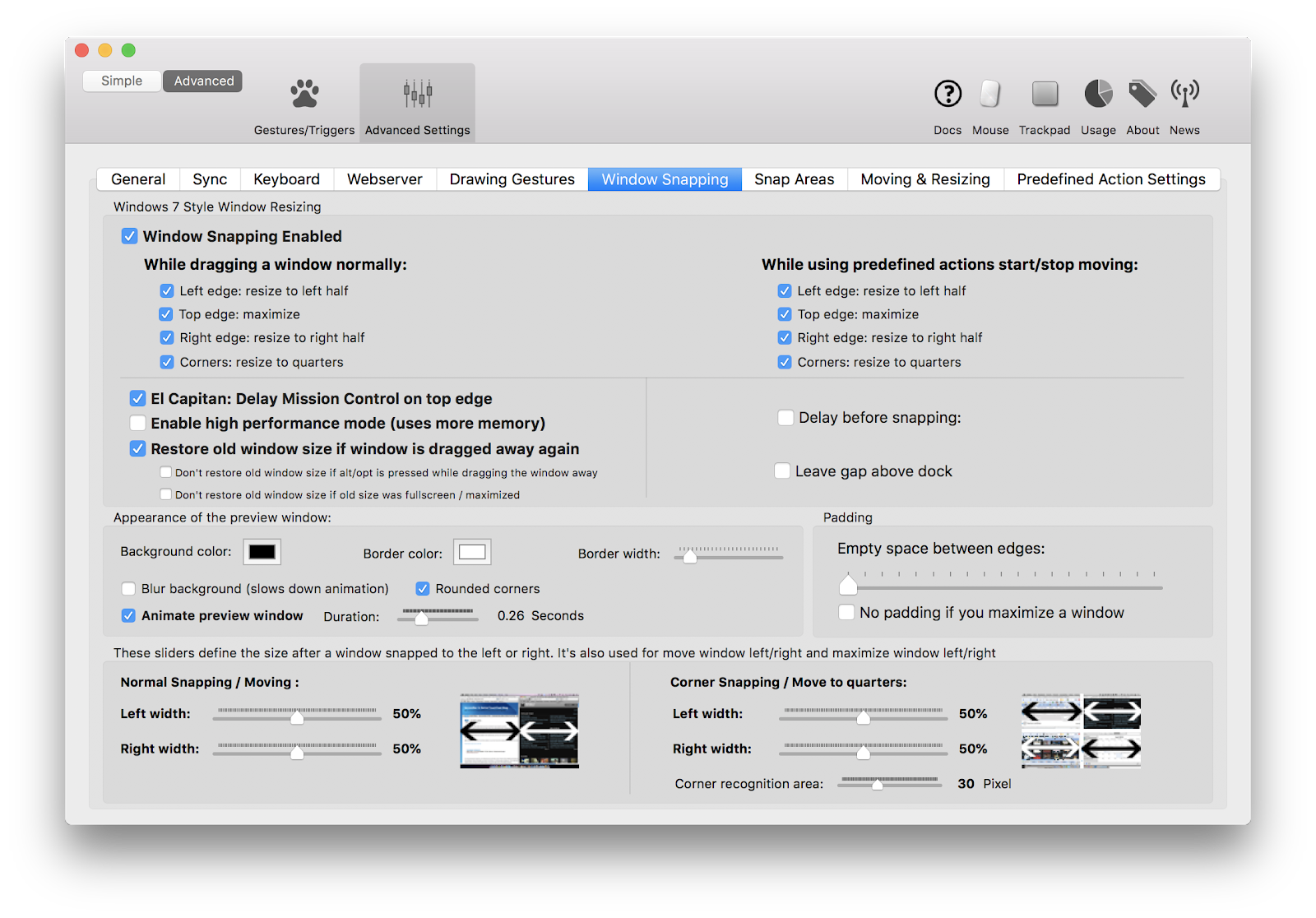 How to create and use custom trackpad gestures