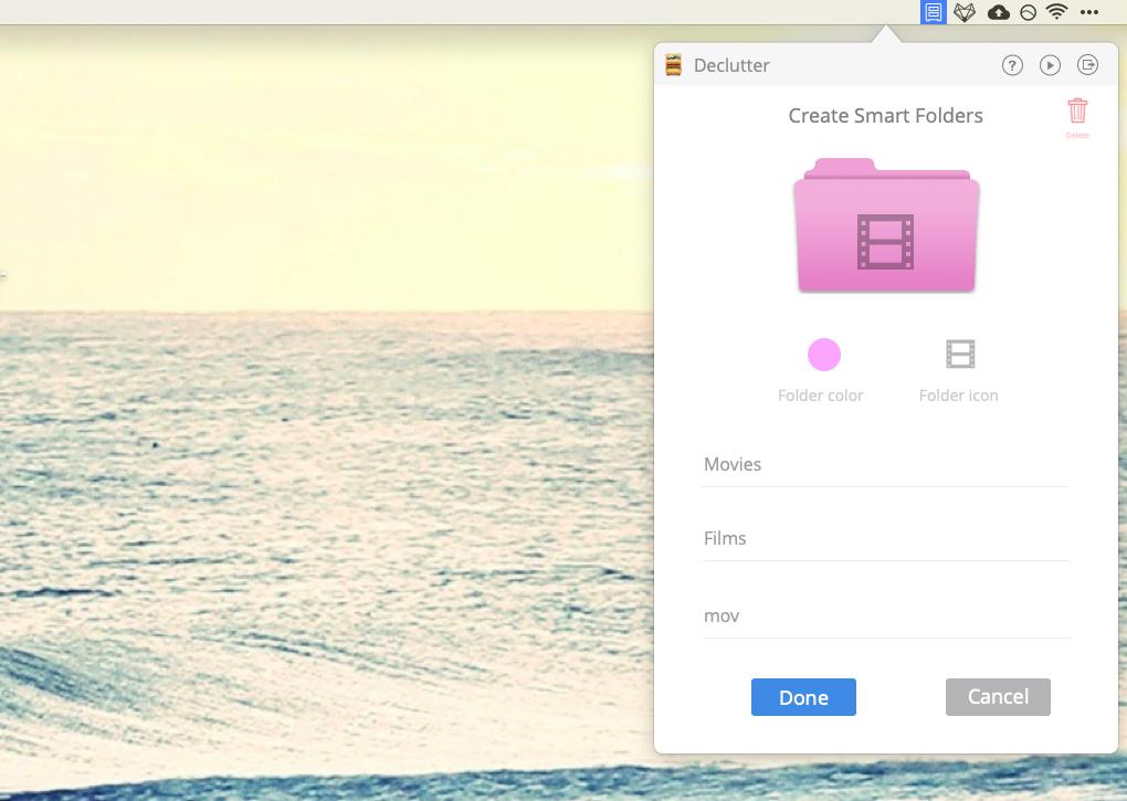 Declutter clean desktop Mac