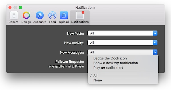 Get desktop notifications anytime you need