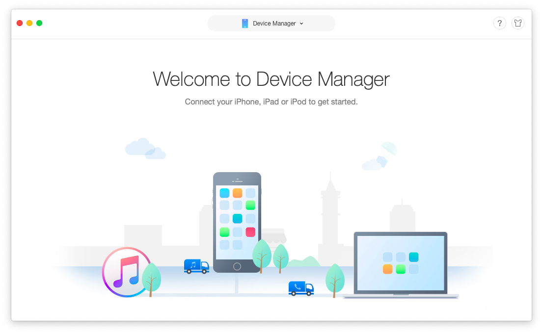 device manager Anytrans Mac iOS